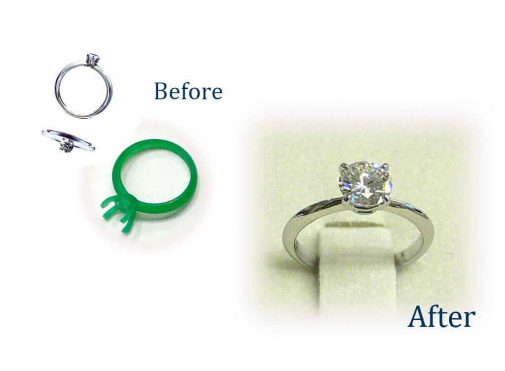 お母様の指輪を娘様の婚約リングに