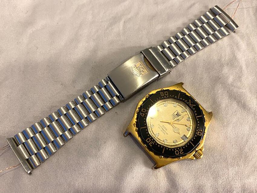 タグホイヤー腕時計ベルト研磨後