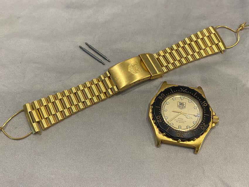 タグホイヤー腕時計ベルトメッキ後