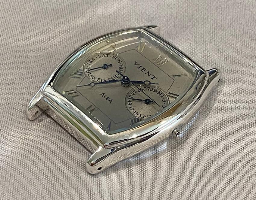アルバ腕時計再メッキ後時計組み立て