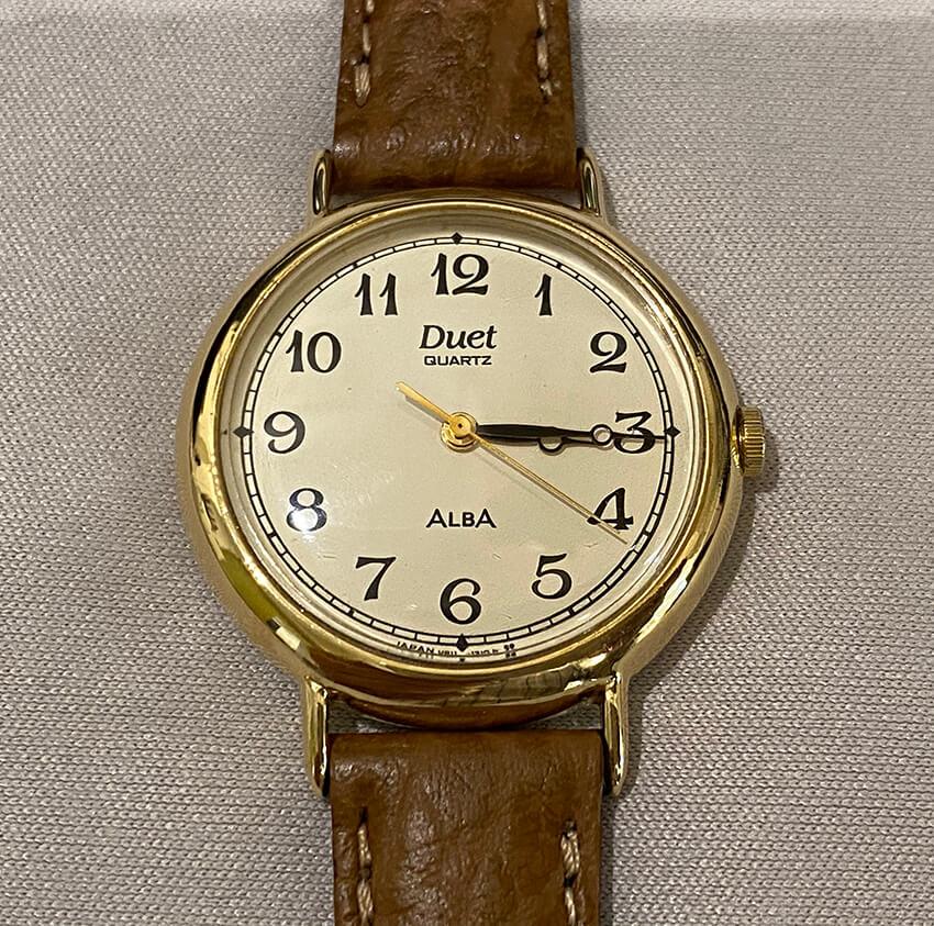 アルバ腕時計再メッキ完成