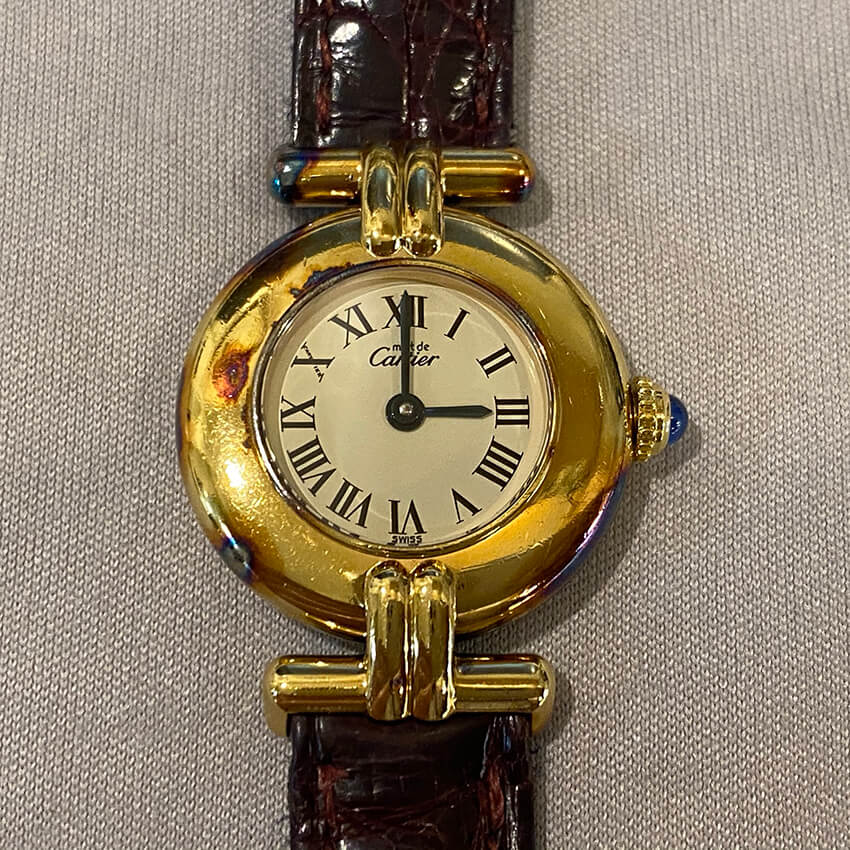 黒くなったカルティエ(Cartier)の修理