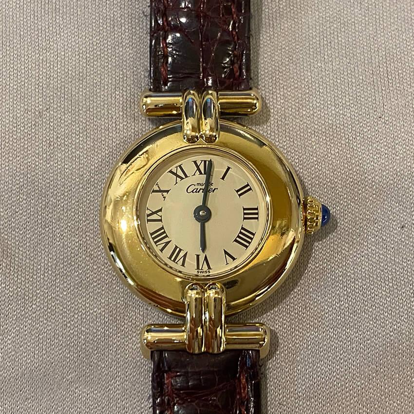 カルティエ時計変色取り修理完成後の表面