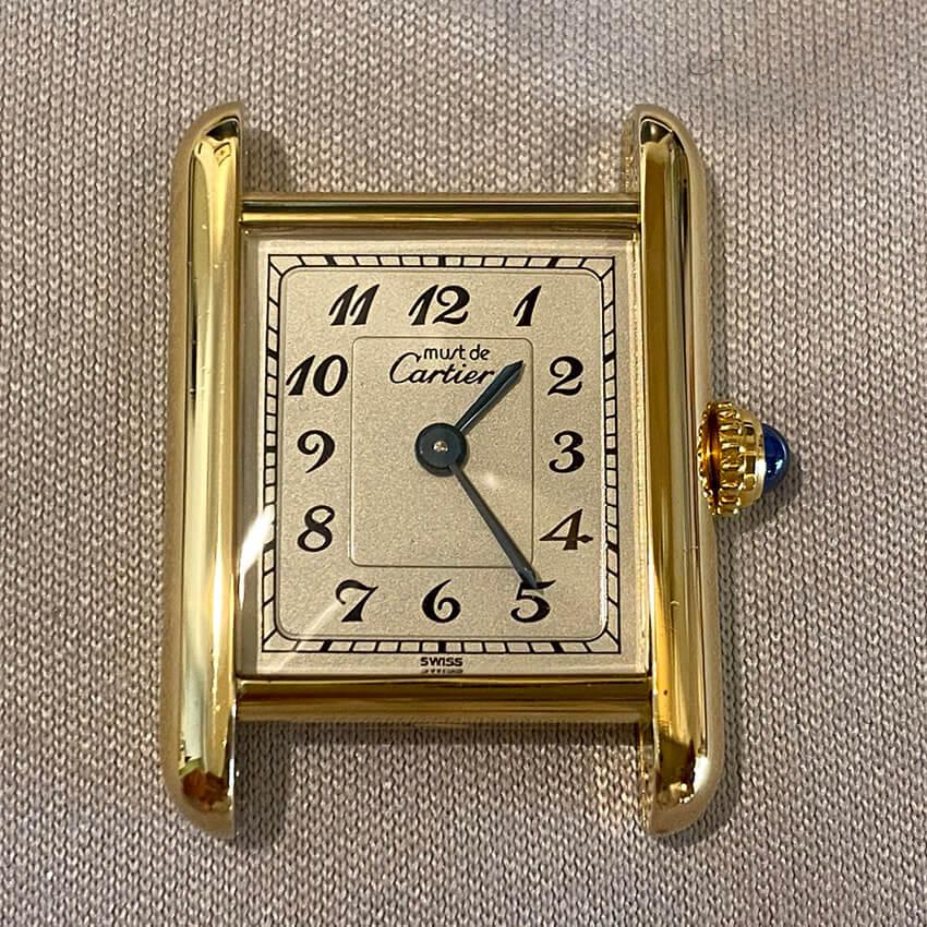 カルティエ時計変色取り修理後の表面