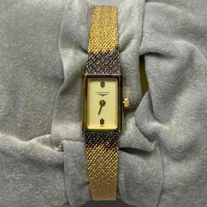変色したロンジンの腕時計の修理