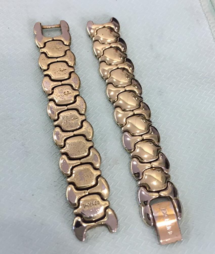 セイコーの腕時計ベルト研磨