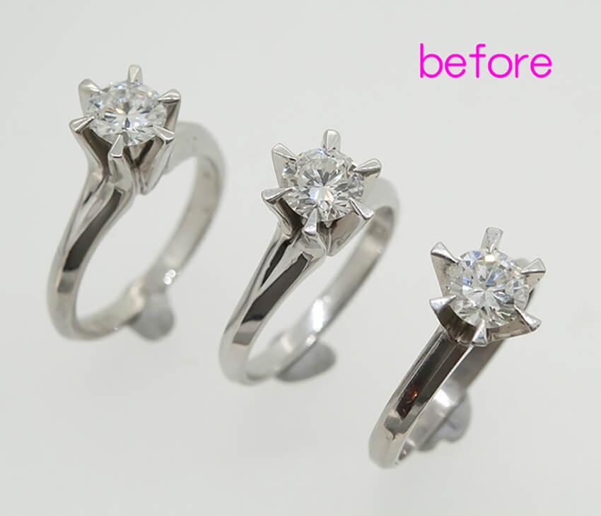 三人姉妹でダイヤの指輪をリフォーム