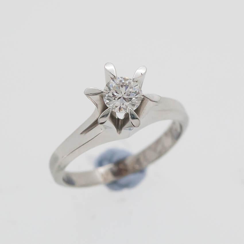 立爪ダイヤの指輪をペンダントにリフォーム