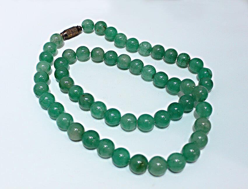 台湾翡翠のネックレスをお念珠にリフォーム