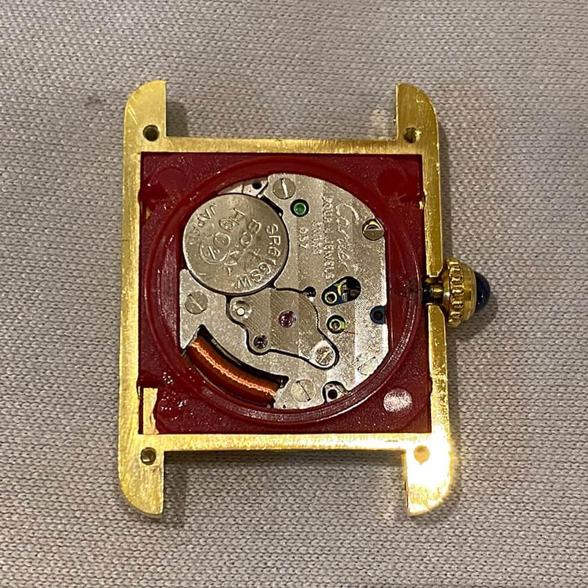 カルティエ時計割れパーツ修理