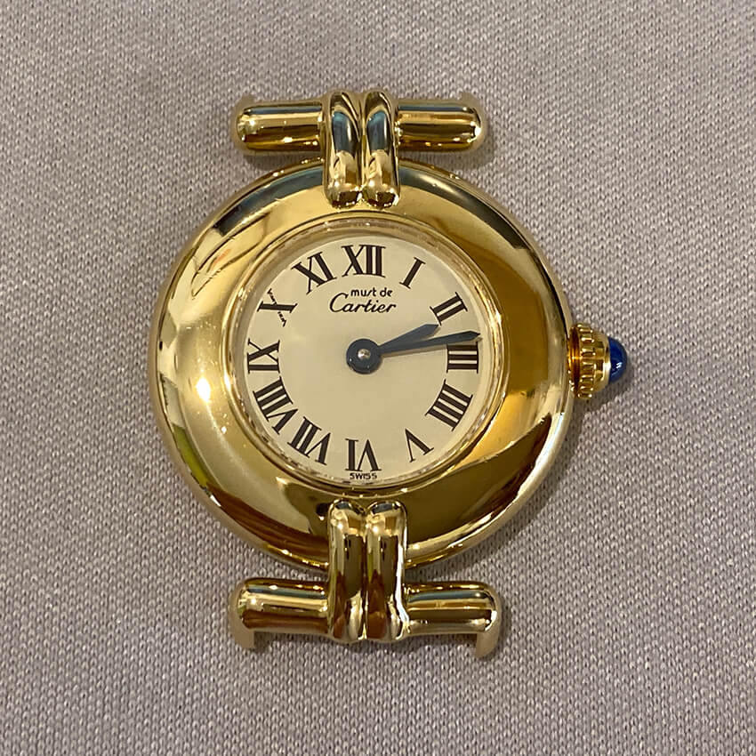 カルティエ時計修理後の表面