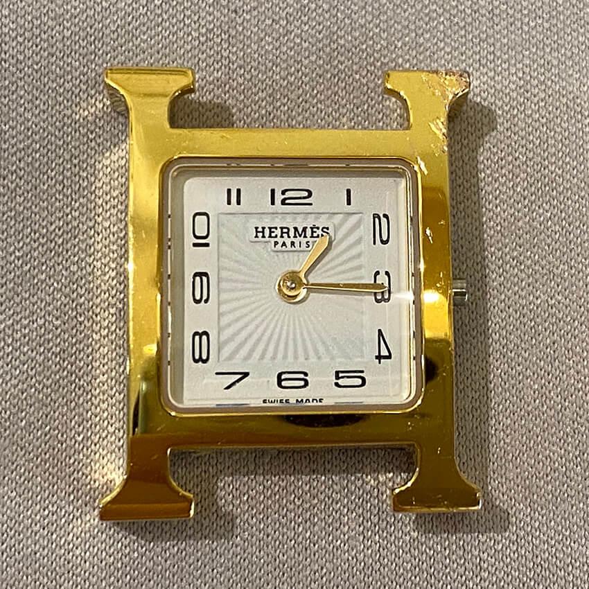 エルメス時計修理前表面