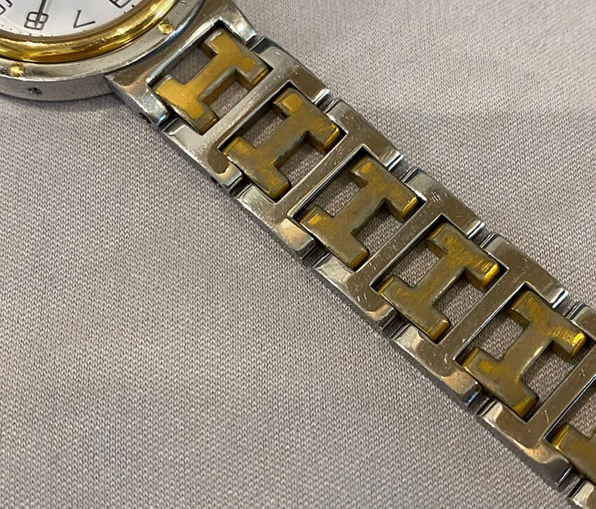 エルメス時計ベルト修理前