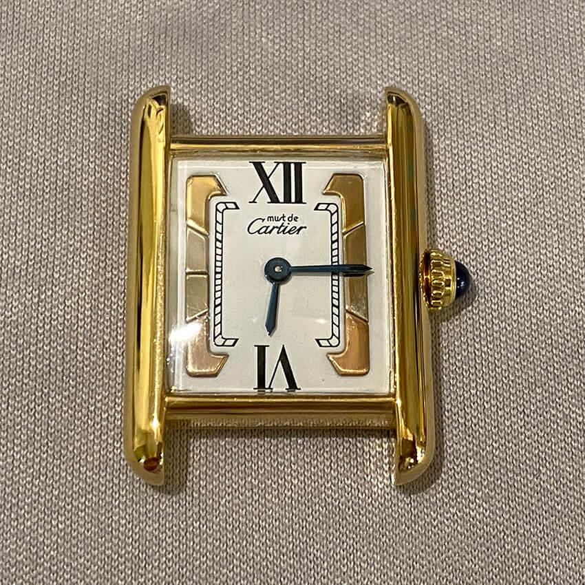 カルティエ時計メッキ後の表面