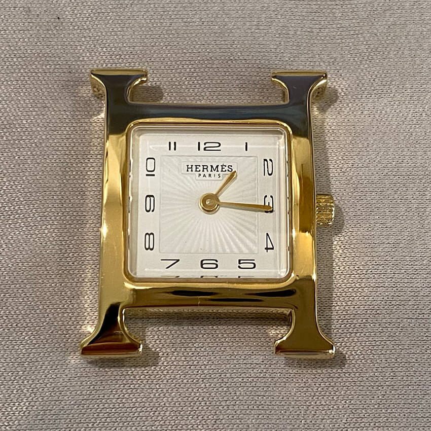 エルメス腕時計再メッキ後の表面