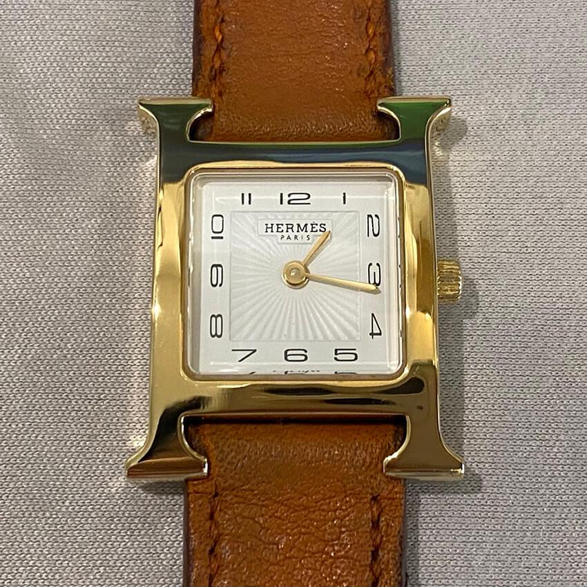 エルメス腕時計ベルト装着後の表面
