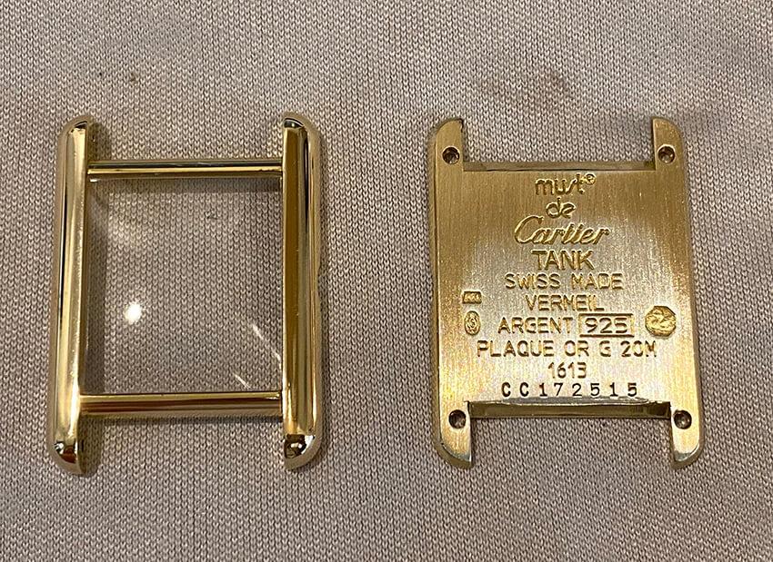 カルティエ時計修理前枠と裏蓋