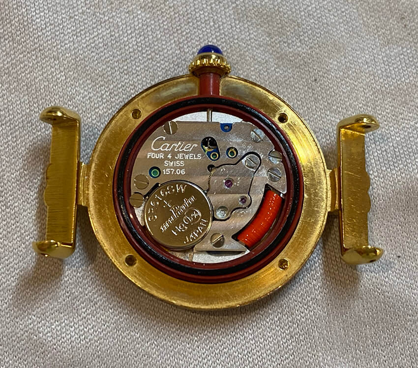 カルティエ時計の内部