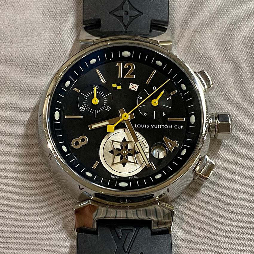 ルイヴィトンの腕時計の表面