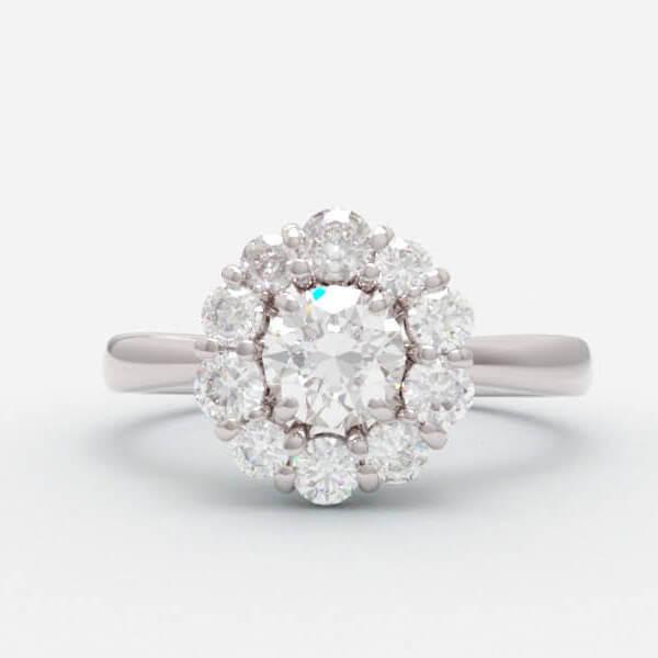 婚約指輪と失くしたピアスを使ったオーダーリフォーム