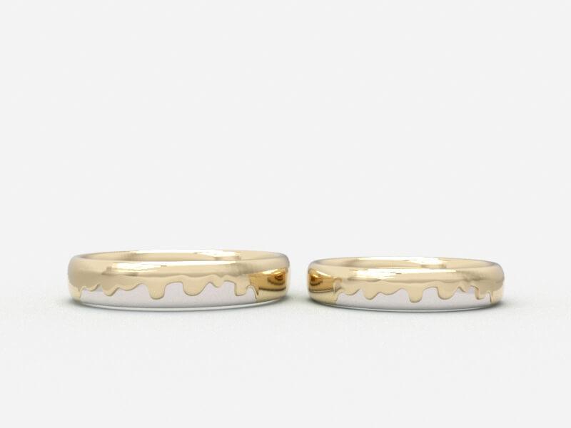 結婚指輪のCGデザイン画