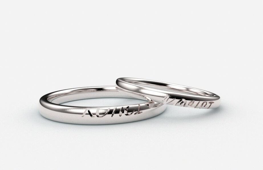 結婚指輪外側