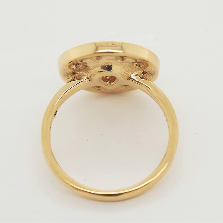 指輪の研磨後