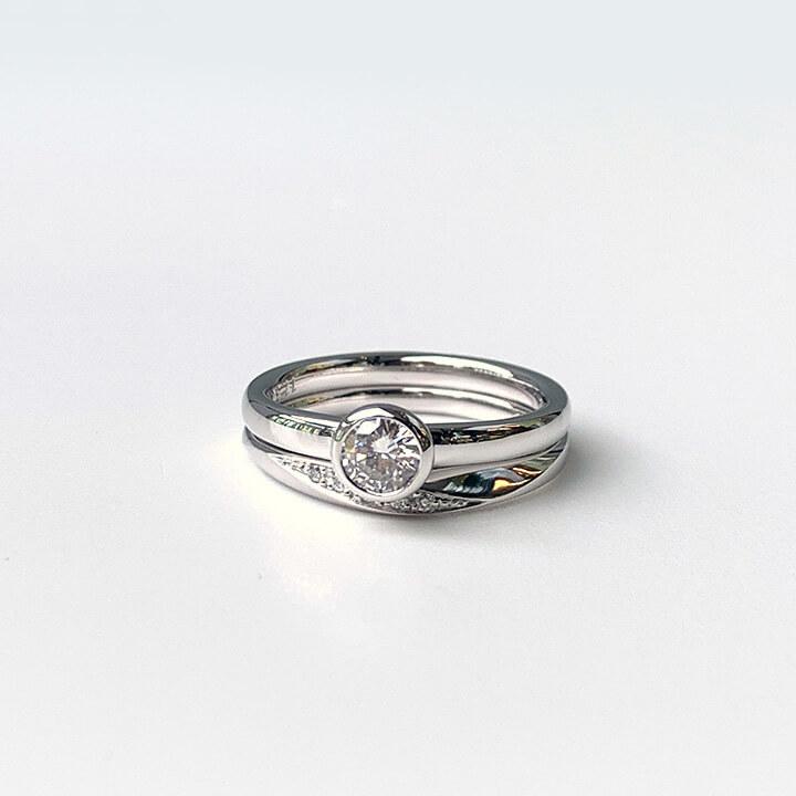 婚約指輪と結婚指輪リフォーム後